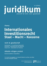 juridikum 3/2013: Internationales Investitionsrecht.